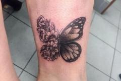 butterfly-in-a-flower-tattoo