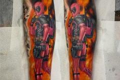 Deadpool-leg-tattoo