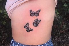 Butterflies-rib-tattoo