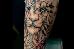 Floral-tiger-tattoo