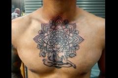 Mandala-chest-tattoo